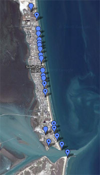 South Padre Island Beach Access Map