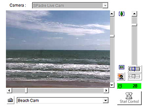 South Padre Beach Cam  with live view of the beach at South Padre Island Texas. Watch the  sunrise every morning!