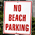 No Beach Parking