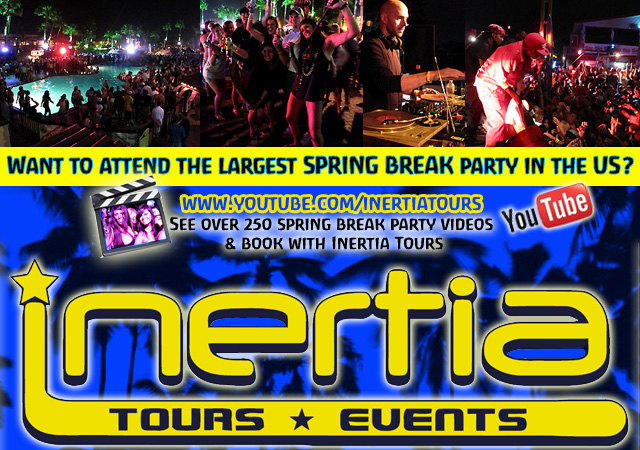 Inertia Tours offers party packages for spring break in South Padre Island