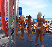 bikini contest coca cola beach
