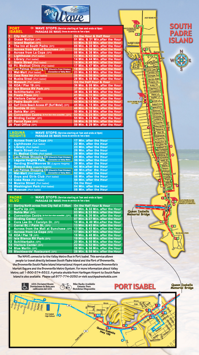 The Wave South Padre Island S Free Shuttle Service