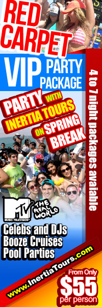 Inertia Tours - Spring Break 2012 Discount Packages, Cheap Spring Break Packages, Spring Break Deals, College Spring Break Specials, Spring Break Bikini Contests