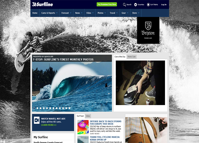 Surfline.com - Surf reports, surf webcams, surf forecasts, surfing news, surfing videos, surfing photos and surf travel information for beaches around the world.