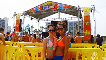 spring break beach concert stage