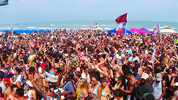 Spring Break Crowd South Padre Island