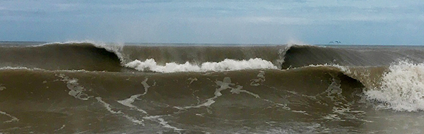 Hurricane Harvey Surf South Padre Island Texas