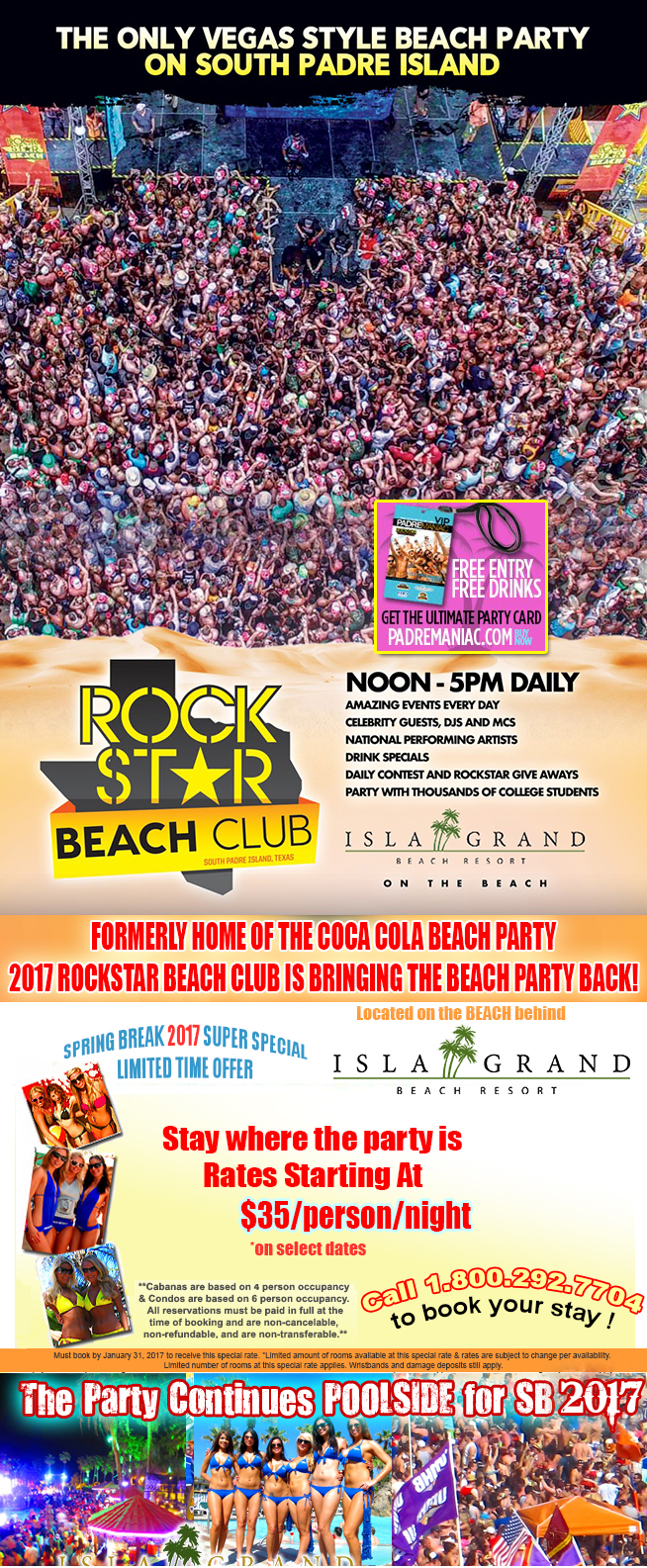 Coca Cola Beach Spring Break at Isla Grand Beach Resort