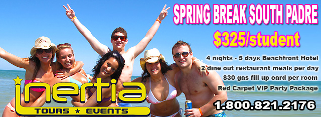 Hot Deals for Spring Break 2013 by Inertia Tours