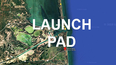 Space X Brownsville Launch Pad is located at Boca Chica Beach, just across the Brownsville Ship Channel near South Padre Island