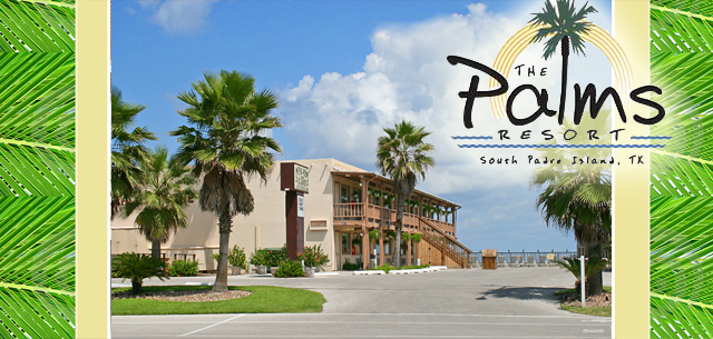 The Palms Resort and Cafe on the beach in South Padre Island