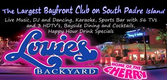 Louie's Backyard South Padre Island Nightlife sports bar dance club karaoke