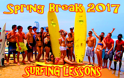 Spring Break Surfing Lessons