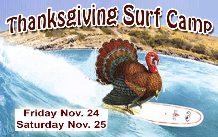 Thanksgiving Surf Camp