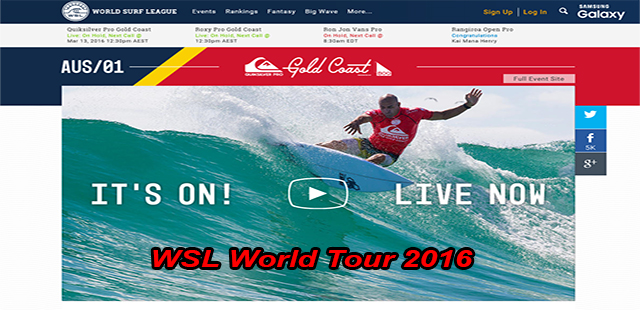 WSL World Tour 2016