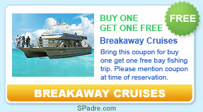 free bay fishing trip with Breakaway Cruises