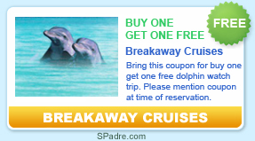 free dolphin watch trip with Breakaway Cruises