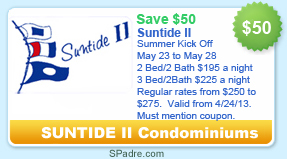 South Padre Island Condominium Coupon Discount