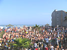 spring break crowd at the Bahia Mar