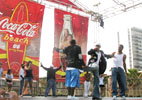 Performers on Coca Cola Stage