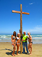 cross on the beach