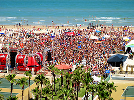 spring break at coca cola beach