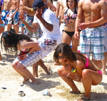 Water Balloon Fight Coca Cola Beach