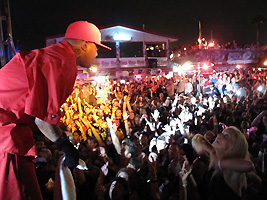 3 six Mafia concert at Inertia Tours party