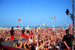 Coca Cola Beach At The Isla Grand In South Padre Island