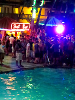 shot bar at the Isla Grand pool party