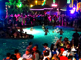 Inertia Tours pool party spring break at the Isla Grand